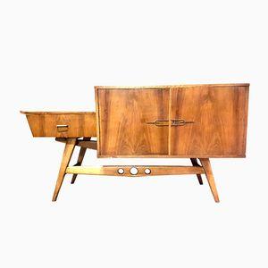 Mid-Century Asymmetrical Veneer Sideboard