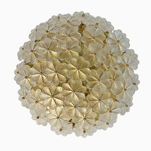 Vintage Large Murano Glass Floral Ceiling or Wall Light by Ernst Palme