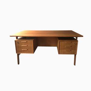Mid-Century Freestanding Junior 75 Teak Desk from Omann Jun