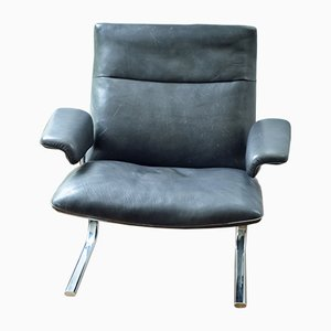 Schweizer DS-2030 Sessel aus Leder & Chrom von de Sede, 1980er