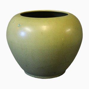 Vase Mid-Century Verni Vert par Herman Kähler