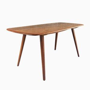 Esstisch aus Massivem Ulmenholz mit Buche Tischplatte von Ercol, 1960er