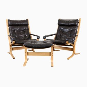 Vintage Easy Chairs & Ottoman by Ingmar Relling for Westnofa