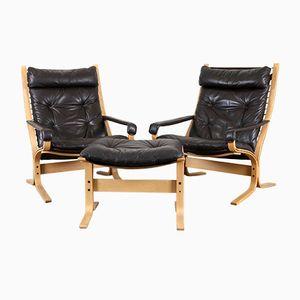 Vintage Sessel & Ottomane von Ingmar Relling für Westnofa