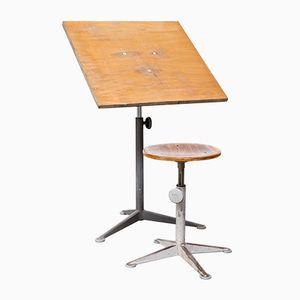 Vintage Drawing Table Set by Friso Kramer for Ahrend de Cirkel
