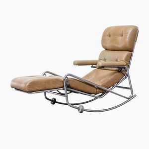 French Lounge Rocking Chair from Lama, 1960s