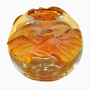 Erimaki Crystal Vase by Marie Claude Lalique, 1988