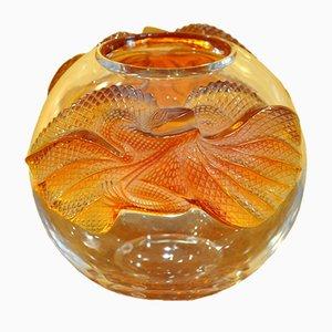 Erimaki Kristallglas Vase von Marie Claude Lalique, 1988