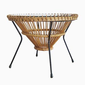 Rattan Coffee Table by Franco Albini, 1950s
