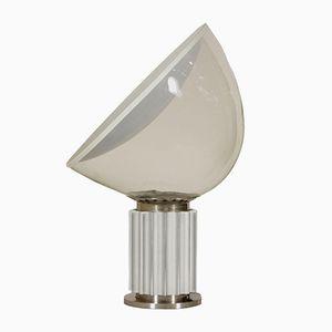 Taccia Tischlampe aus Metal, Aluminium und Glas von Castiglioni Brothers für Flos, 1960er