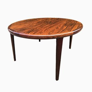 Danish Rosewood Two-Leaf Extending Dining Table, 1960s