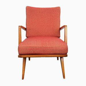 Vintage Cherry Armchair from Knoll Antimott, 1950s