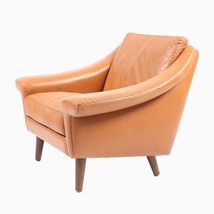 Matador Lounge Chair in Leather by Aage Christensen for Erhadsen & Andersen, 1960s