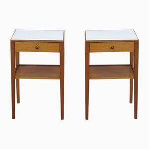 Englische Nachttische aus Eiche von Mann Egerton Furniture, 1979, 2er Set