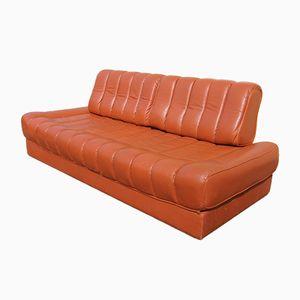 Vintage DS 85 Schlafsofa aus Orange-Braunem Leder von de Sede