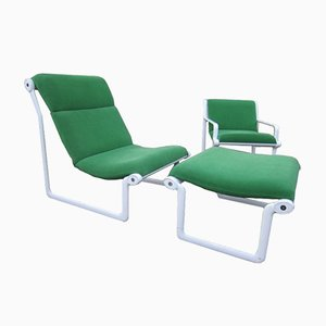 Vintage Sling Chair Set by Bruce Hannah & Andrew Morrison for Knoll International