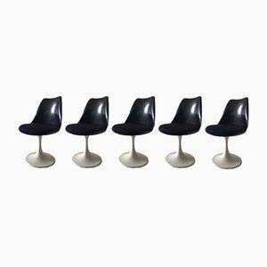 Black Tulip Chairs by Eero Saarinen for Pastoe, 1960s, Set of 5