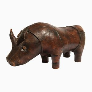 Leather Rhino Footstool from Valenti, 1970s