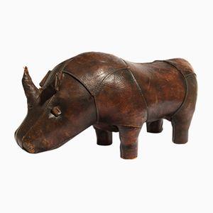 Rhino Leder- Fußhocker von Valenti, 1970er