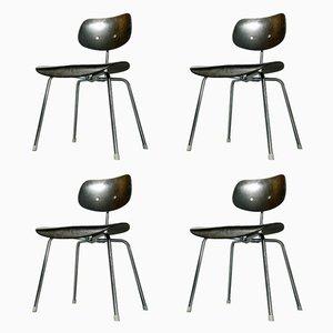 SE 68 Stühle in Schwarz von Egon Eiermann für Wilde+Spieth, 1970er, 4er Set