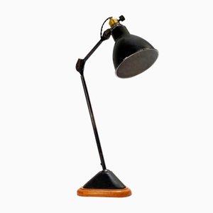 206 Table Lamp with Oak Base by Bernard Albin Gras, 1920s
