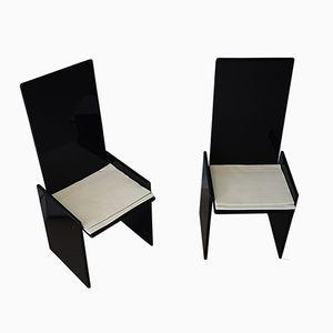 Chaises Vintage Noires par Kazuhide Takahama pour Simon, Set de 2