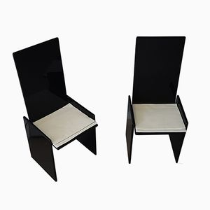 Vintage Black Chairs by Kazuhide Takahama for Simon, Set of 2