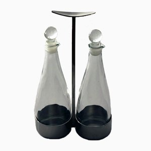 Vinegar and Oil Decanters by Marianne Denzel for Berndorf, 1960s