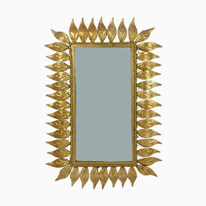 Mid-Century Spanish Gilt Wall Mirror, 1950s
