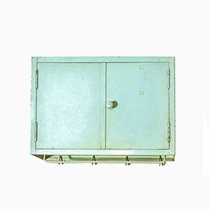 Small Industrial Wall Cabinet from MEWA, 1940s