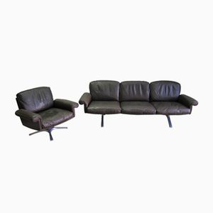Vintage DS 31 3-Sitzer Sofa & Drehsessel von de Sede