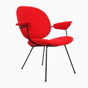 Red Easy Chair by W.H. Gispen for Kembo, 1950s