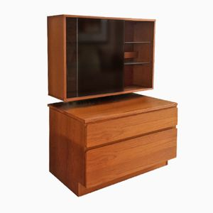 Vintage Chest of Drawers and Illuminated Wall Mounted Display Cabinet from Beaver and Tapley