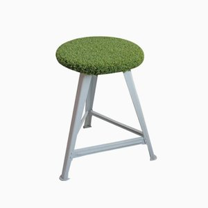 Upcycled German Industrial Stool from Rowac, 1950s