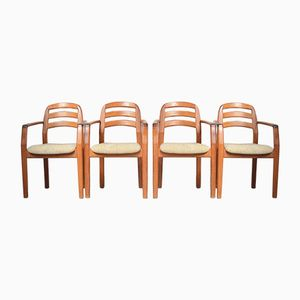 Danish Chairs with Armrests from Dyrlund, Set of 4, 1960s
