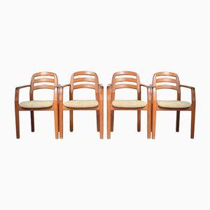 Sedie con braccioli di Armrests Dyrlund, Danimarca, set di 4, anni '60