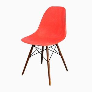 DSW Stuhl in Rot/ Orange von Charles & Ray Eames für Herman Miller, 1960er