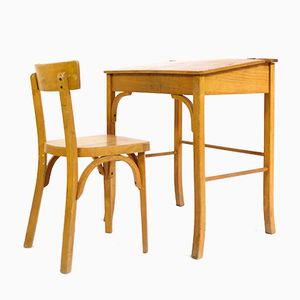 French Vintage Children's Desk and Chair