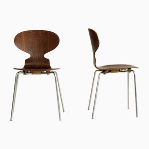 3101 Chairs by Arne Jacobsen for Fritz Hansen, 1973, Set of 2