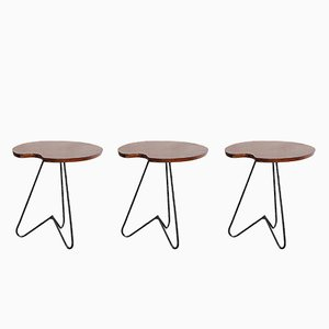 Vintage Afromasia Side Tables, Set of 3