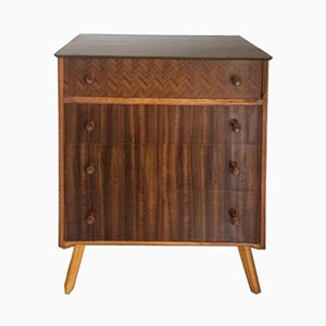 Mid-Century Walnut Veneer Chest of Drawers, 1960s