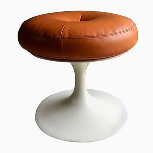 Orange Tulip Base Stool by Borje Johanson, 1960s
