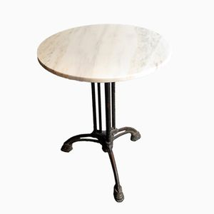 Art Nouveau Bistro Table with Marble Top