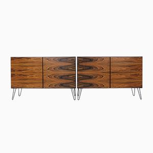 Vintage Danish Rosewood Sideboards from Omann Jun, Set of 2