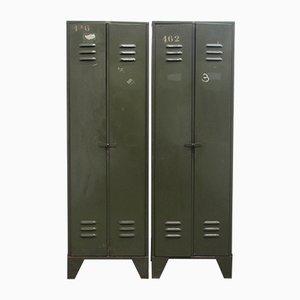 Industrieller Vintage Spind mit Zwei Türen von Tubetol, 1940er