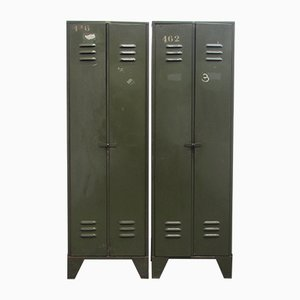 Vintage Industrial Two-Door Locker from Tubetol, 1940s