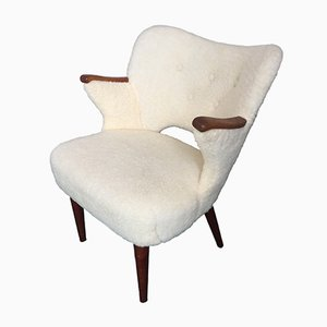 Dänischer Sessel mit Teak Nägeln, 1950er