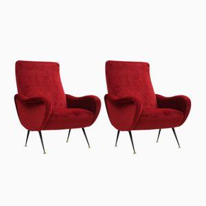 Italienische Mid-Century Sessel von Flexform, 2er Set