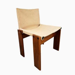 Italian Rosewood Monk Chair by Afra & Tobia Scarpa for Molteni, 1973