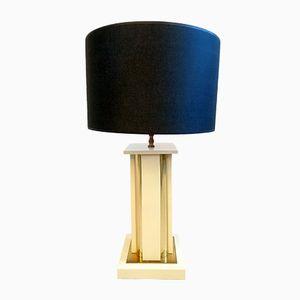 Vintage Enamel & Brass Table Lamp by Romeo Rega